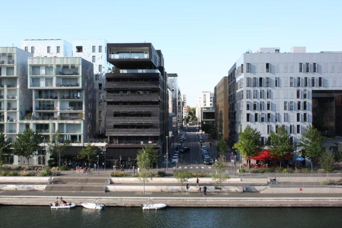 Rue denuzière-perspective-architecture moderne-Lyon-Confluence